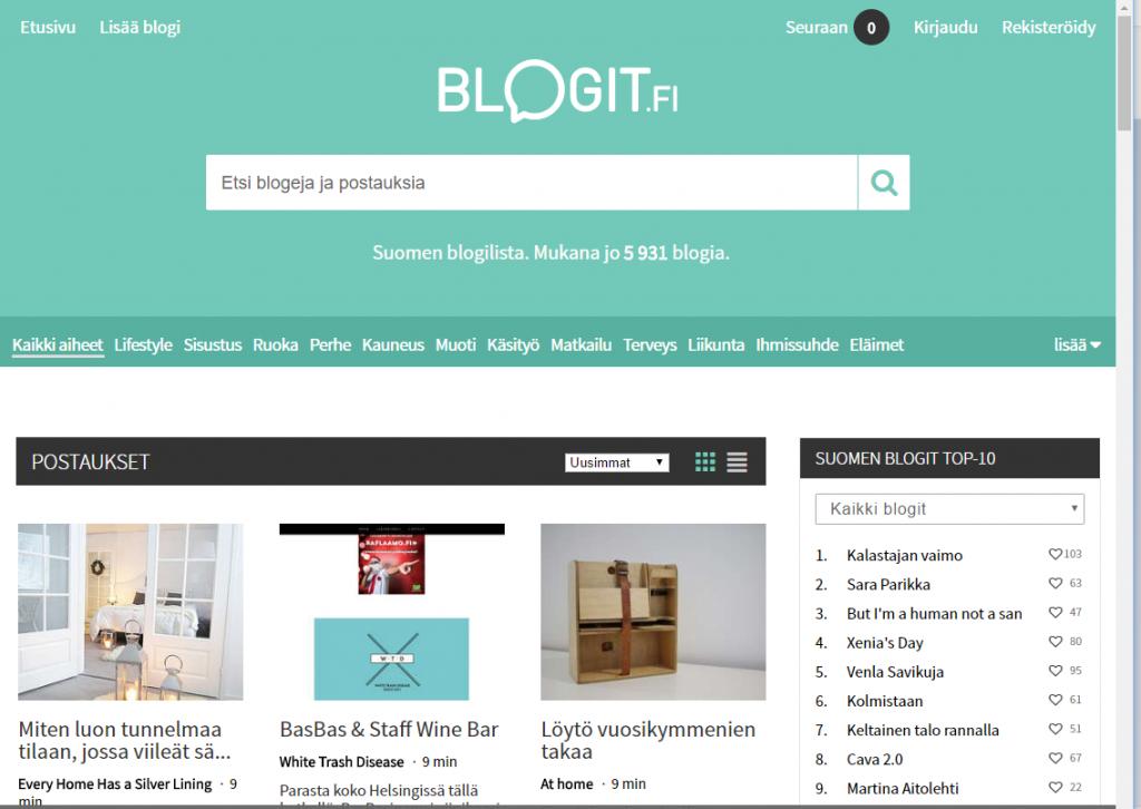 Blogilista Blogit